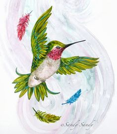 *SANDY SANDY ART*: How the Hummingbird Got His Colors ~ Legend # 26 of 30 ~ http://www.sandysandyart.com/2013/09/how-hummingbird-got-his-colors-legend.html