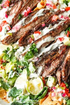 Easy Skirt Steak Taco Salad - Food & Drink that I love - Salat Skirt Steak Recipes, Taco Salad Recipes, Taco Salads, Mexican Food Recipes, Carnitas, Barbacoa, Best Beef Recipes, Cooking Recipes, Favorite Recipes
