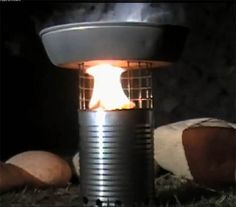 How To Make A Tin Can Wood Stove
