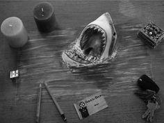Ramon Bruin, shark infested furniture by jjkairbrush
