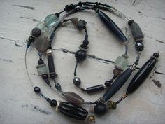 """Langkette """"eisblau-grau"""" von Balkonketten auf DaWanda.com"""