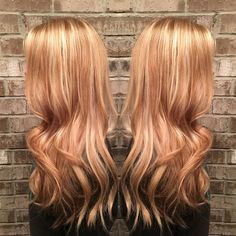 Strawberry golden blonde by Misty Callaway at Cheveux salon in Hendersonville , TN #redkencolor - Looking for Hair Extensions to refresh your hair look instantly? @KingHair focus on offering premium quality remy clip in hair.