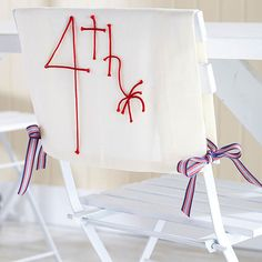Easy DIY - 4th of July Chair Cover
