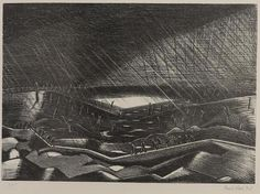 Paul Nash, 'Rain: Lake Zillebeke', 1917