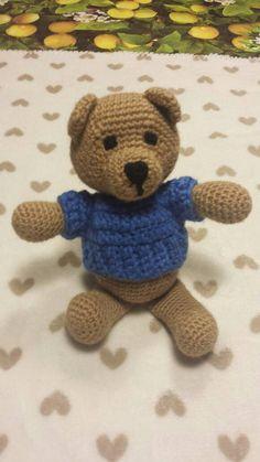 Guarda questo articolo nel mio negozio Etsy https://www.etsy.com/it/listing/492137313/orsetto-amigurumi-crochet