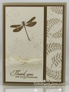 """By Jenn Tinline. Stamps from """"Awesomely Artistic"""" by Stampin' Up. Uses first and second generation stamping (aka """"stamping off""""):"""