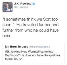 J.K. Rowling about Peter Pettigrew