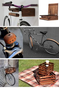 Wooden Bike Accessories ( http://www.coolhunting.com/design/wooden-bike-acc.php )