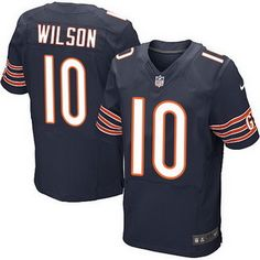 Chicago Bears #10 Marquess Wilson Navy Blue Team Color NFL Nike Elite Jersey