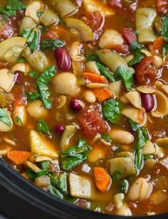 Olive-Garden-Minestrone-Soup-Copycat #best recipe to try