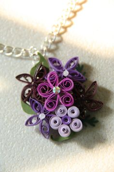 Paper quilled necklace.