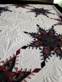 Close-up, A Truly Feathered Star by Karen Sievert, photo by Quilt Inspiration by rhoda