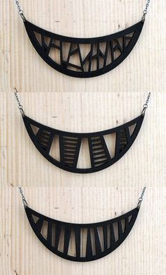 by Roumiela and Damian Nygaard owners of Etsy shop Moderngirljewelry TRIBAL WOOD… Ceramic Jewelry, Wooden Jewelry, Polymer Clay Jewelry, Handmade Jewelry, Jewelry Crafts, Jewelry Art, Jewelry Necklaces, Jewelry Design, Leather Necklace
