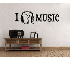 I Love Music wall word decal sticker mural vinyl by StyleandApply, $9.95