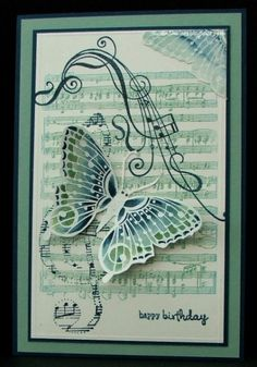Birthday Butterfly Symphony by Auntie Susan - Cards and Paper Crafts at Splitcoaststampers