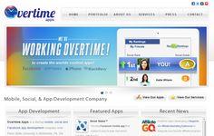 Overtime Apps website design