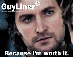 """HAHAHAHAHA! Weren't we JUST talking about this?? XD """"Maybe he's born with it... Maybe it's 'Guybelline'..."""""""