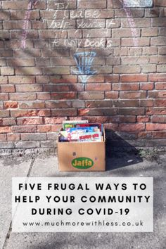 Short of cash but keen to help during these troubled times? Check out my 5 frugal ways to help your local community during from volunteering for local support groups to donating to food banks and offering your skills Make Money Online, How To Make Money, Live On Less, Support Groups, Food Bank, Money Saving Tips, Banks, Frugal, Budgeting