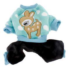Bonito veado Sika Padrão calças quentes de quatro patas para Animais de estimação Cães (tamanhos variados) – BRL R$ 33,71