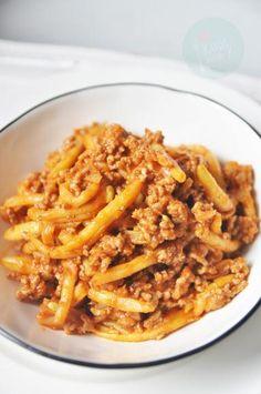 Zdjęcie: Fasolka szparagowa z mięsem mielonym Tapas, Macaroni And Cheese, Healthy Eating, Favorite Recipes, Ethnic Recipes, Food, Dinner Ideas, Summer, Diet