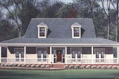 Southern Exterior - Front Elevation Plan #15-207 - Houseplans.com