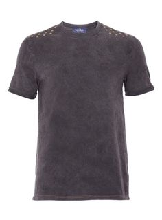 Grey Washed Studded Tee