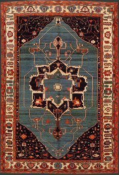 Turkish Azeri Rug at Emmett Eiland's Oriental Rugs Persian Motifs, Persian Rug, Turkish Rugs, Interior Rugs, Magic Carpet, Tribal Rug, Persian Carpet, Textiles, Floor Rugs