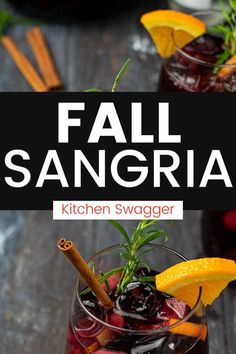 This sangria recipe is perfect for the fall and holiday season. It's a perfect blend of Spanish red wine, green apples, oranges, Grand Mariner, maple syrup, fresh rosemary, and cinnamon.