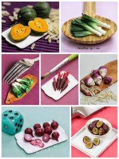 Miniature fruit and veggies, Stephanie Kilgast, aka PetitPlat