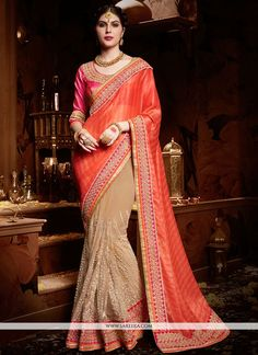 Get going with this majestic and wonderful piece and make your dream attire look richer to your persona. We unfurl our the intricacy and exclusivity of our creations highlighted in this lovely beige a...