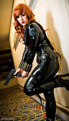 Marvel Comics. Character: Black Widow. Cosplayer: Alexia Jean Grey. Events: Dragon Con 2012. Image: PhotosNXS.