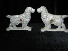 Vintage Cast Aluminum Cocker Spaniel Gate Toppers... When I was a kid I wanted to own a house with these on the gate.