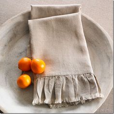 Ruffle Tea Towels -- Wisteria knock-off at Confessions of a Plate Addict -- DIY