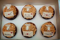 White Doves and Love Letters Cupcakes