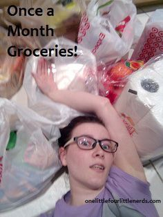 Once a month grocery shopping, mom blog, grocery saving money on groceries, Kroger, Target Aldi, how to grocery shop once a month series