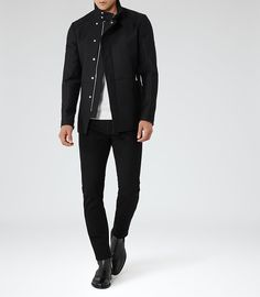 Allman Black Stretch Jeans - REISS, Men's Early Fall Winter Fashion.