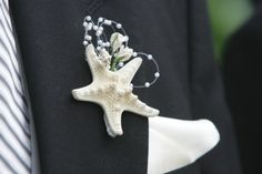 Beach Wedding Starfish Boutonniere