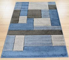 Hand Carved - Cosmos Blue / Grey Rugs | Modern Rugs