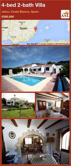 4-bed 2-bath Villa in Jalon, Costa Blanca, Spain ►€285,000 #PropertyForSaleInSpain