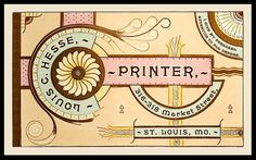 Specimen card design, American Art Printer, January 1892, where it is credited to Louis Hesse. (Courtesy of Doug Crouse and Angela Voulangas)