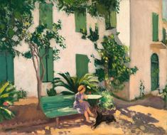 View Le Repos Devant La Maison By Albert Marquet; oil on canvas; Access more artwork lots and estimated & realized auction prices on MutualArt. Henri Matisse, Piet Mondrian, Figure Painting, Painting & Drawing, Wassily Kandinsky, Claude Monet, Art Fair, Van Gogh, Art History