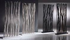 Exotische Raumteiler aus Bambus Rattan und Teakholz.