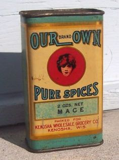 old spice can : mace