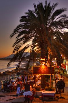 Marbella Beach Bar, Spain. celebrated my b-day here 2012. <3