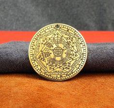 The Seal of the True God, The Sigil of Ameth, Sigillium Dei Emeth neckace 4x4, Witch Bottles, Magic Ring, Write To Me, One Image, Norse Mythology, One Sided, Third Eye, Bag Storage