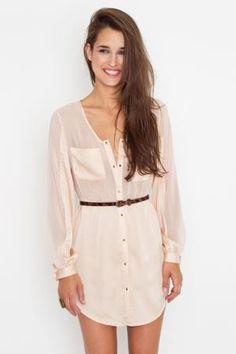Blushing Shirtdress in Clothes at Nasty Gal