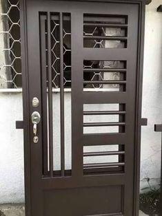28 ideas for metal door design entrance wrought iron Home Gate Design, Grill Gate Design, Window Grill Design Modern, Steel Gate Design, Iron Gate Design, Wooden Door Design, Main Door Design, Front Door Design, Steel Security Doors