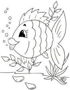 Awesome Most Popular Embroidery Patterns Ideas. Most Popular Embroidery Patterns Ideas. Applique Patterns, Applique Quilts, Embroidery Applique, Art Drawings For Kids, Easy Drawings, Fabric Painting, Painting & Drawing, Quilling Patterns, Fish Art