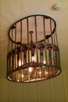 Lamp with Mackintosh roses. Oval room. House for an art lover in Bellahouston park Glasgow.