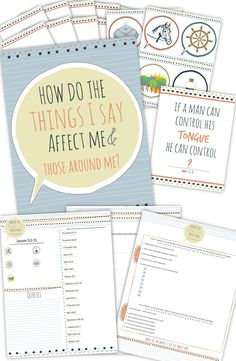 "awesome printable package to teach ""how do the things I say affect me and those around me?""  #Come Follow Me"